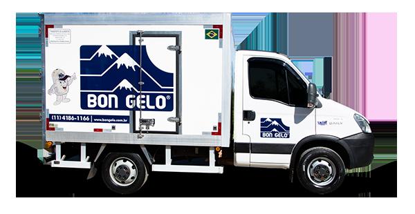 Caminhão de entrega de gelo