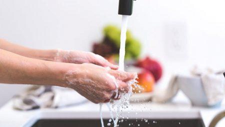 A importância de lavar as mãos